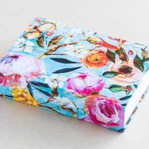Jotter pad turquoise flowers