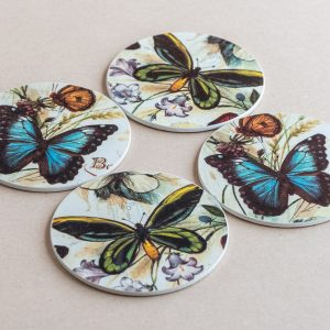 coasters butterflies
