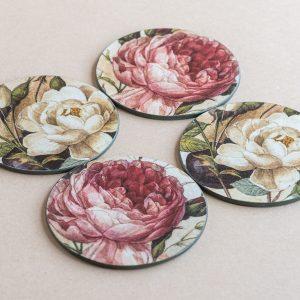 coasters roses