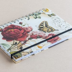 Notebook Lined A4 Roses (Bomo Design)