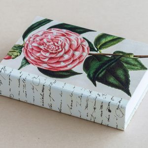 Jotter pad botanical camellia pink