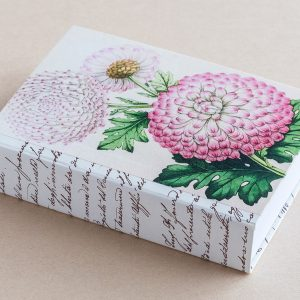 Jotter pad botanical chrysanthemum