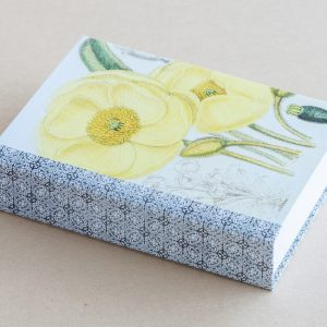 Jotter pad botanical poppy yellow