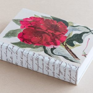 Jotter pad botanical rhododendron red writing
