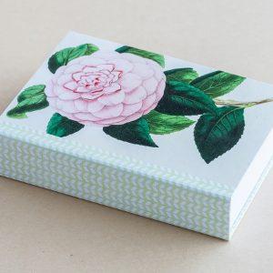 Jotter pad botanical rose pink