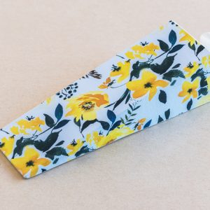 Doorstop Flowers Yellow White