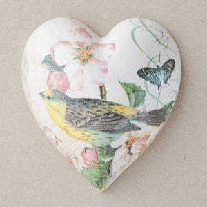 Heart Hanging Bird Peach Blossom