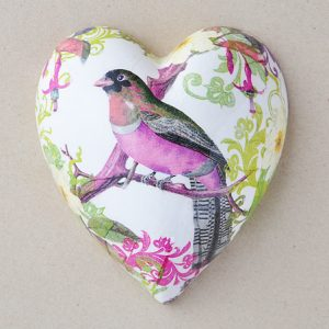 Heart Hanging Bird Pink