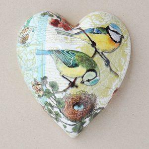 Heart Hanging Birds Yellow Nest
