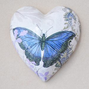 Heart Hanging Butterfly Mauve