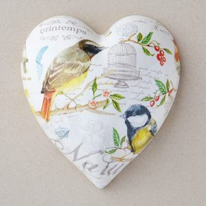 Heart Hanging Christmas Birds Cage