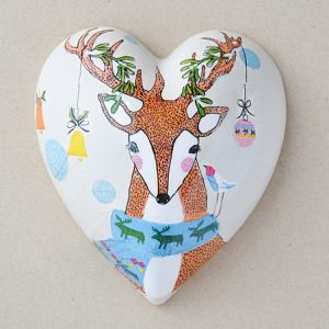Heart Hanging Christmas Deer
