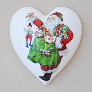 Heart Hanging Christmas Santa Toys
