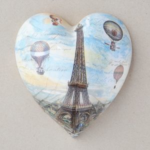Heart Hanging Eifel Tower Balloons
