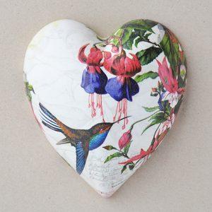 Heart Hanging Hummingbird