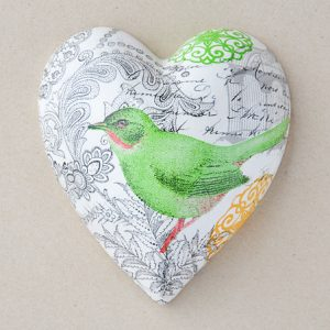 Heart Hanging Paisley Green