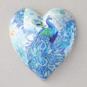 Heart Hanging Peacock Paisley