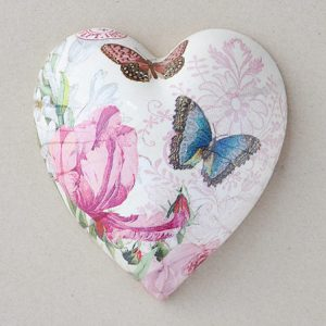 Heart Hanging Tulip Pink Butterfly