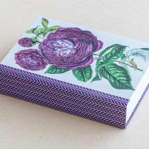 Jotter pad botanical rose purple