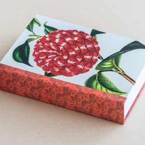 Jotter pad botanical camellia red