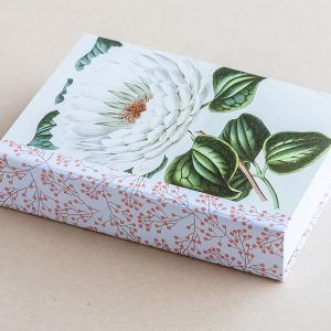 Jotter pad botanical lilly white