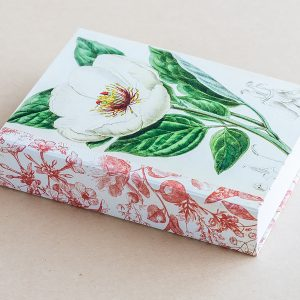 Jotter pad botanical poppy white