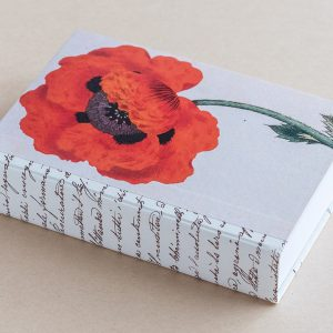 Jotter pad botanical poppy red