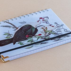 Notebook Lined A5 wood Pigeons