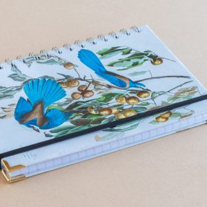 Notebook Lined A5 birds blue