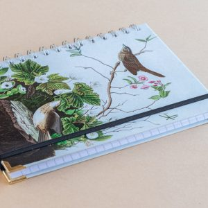 Notebook Lined A5 birds log