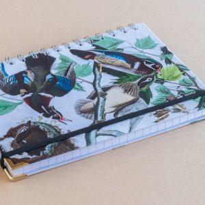 Notebook Lined A5 birds multi