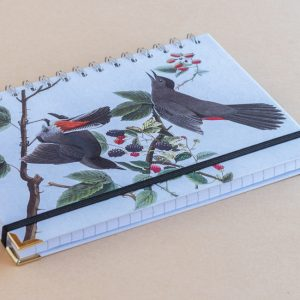 Notebook Lined A5 red brown birds