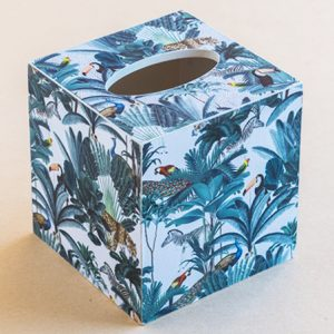 Tissue Box Cover Animals white