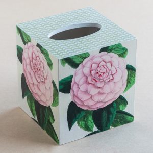 Tissue Box Cover Rose Botanical Pink