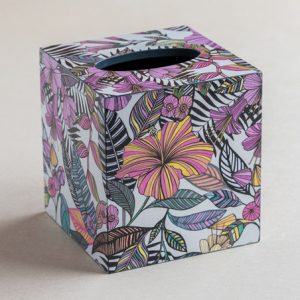 Tissue Box Cover Tropical Pink