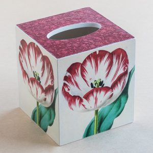 Tissue Box Cover Tulips Botanical