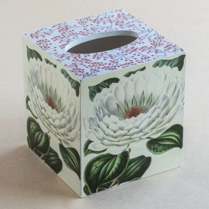 Tissue box Cover lilly Botanical white
