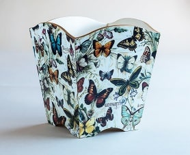 Waste paper bin butterflies bomo