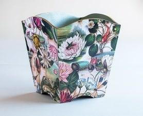 Waste paper bin lillies bomo
