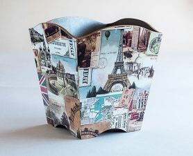 Waste paper bin travel bomo