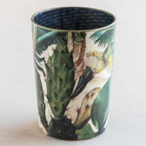decoupage desk pot glass arizona dreams