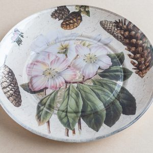 decoupage glass plate christmas rose