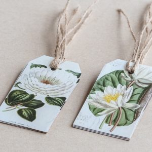 gift tags llilly / lillies white