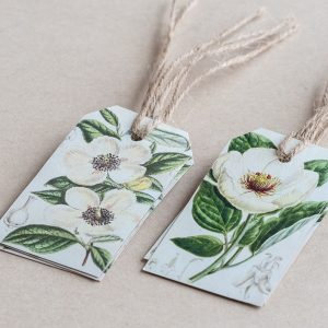 gift tags roses / poppy white