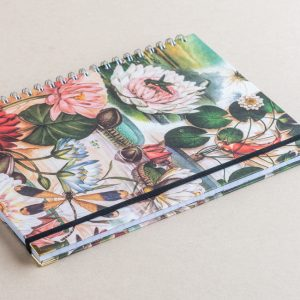 Notebook  Lined A5  lillies