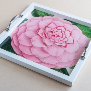 Tea tray rose pink