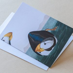 Greeting Card – Bird Puffin 08