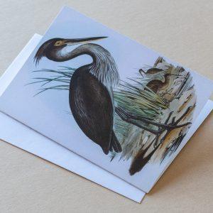 Greeting Card – Birds Stork Black 23