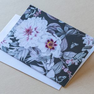Greeting Card – Flowers Black 01