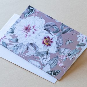 Greeting Card – Flowers Tan 02